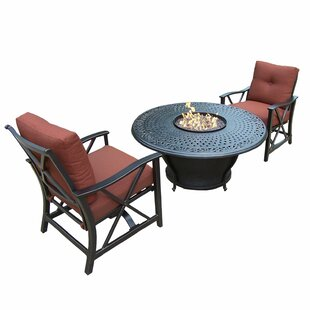 Darby Home Co Owego 3 Piece Conversation Set with Cushions