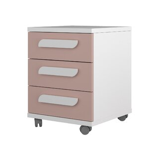Crispin 3 Drawer Bedside Table By Harriet Bee