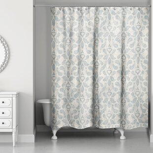 Doty Soft Damask Single Shower Curtain