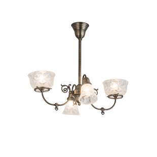 Meyda Tiffany Revival Auburn Wreath and Garland 4-Light Shaded Chandelier