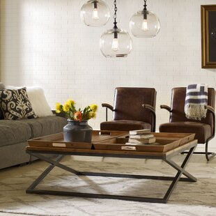 Best Deals Tray Coffee Table with Tray Top by Design Tree Home