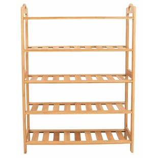 Bamboo 15 Pair Shoe Rack