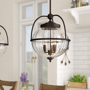 Beachcrest Home Stonebrook 3-Light Globe Chandelier