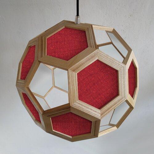 Atlante Fabric 1-Light Truncated Icosahedron Pendant Lamp