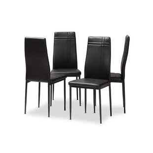Genaro Upholstered Dining Chair (Set of 4) by Wrought Studio