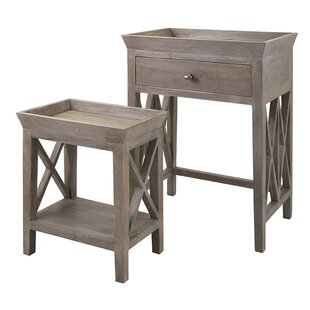 August Grove Bridger 2 Piece Nesting Tables