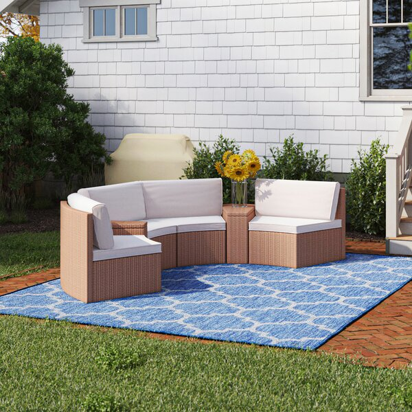 Bay Isle Home Mendon 6 Piece Rattan Conversation Set With Cushions Reviews Wayfair