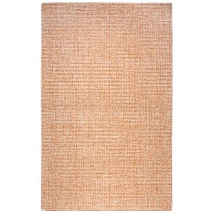 Lemington Hand-Tufted 100% Wool Orange Area Rug by Latitude Run