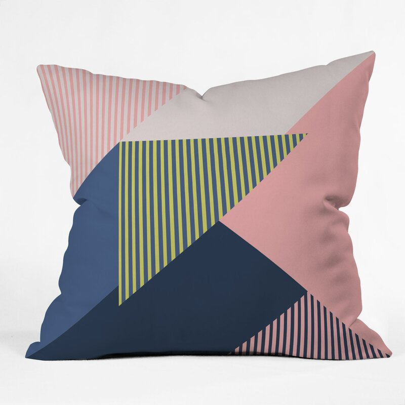 East Urban Home Mareike Boehmer Color Blocking Minimal 1 Indoor Outdoor Throw Pillow Wayfair