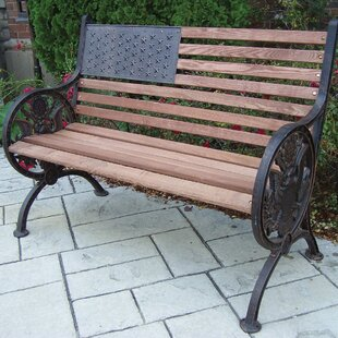Proud American Wooden/Cast Iron Park Bench