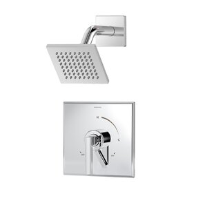 Duro Single Handle 1 Spray Thermostatic Shower Faucet With Square Shower  Head And Lever Handle