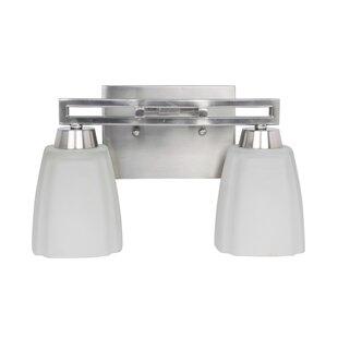 Compare & Buy Wolfgang 2-Light Vanity Light By Breakwater Bay