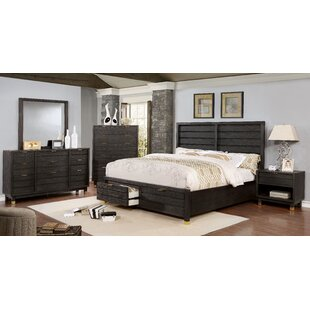 Brayden Studio Randeep Contemporary Upholstered Storage Configurable Bedroom Set