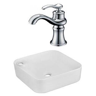 Great Price Ceramic Rectangular Vessel Bathroom Sink with Faucet ByRoyal Purple Bath Kitchen