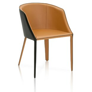 Malik Dual Tone Curved Saddle Upholstered Dining Chair Brayden Studio