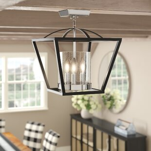 Boswell 3-Light Semi Flush Mount by Gracie Oaks