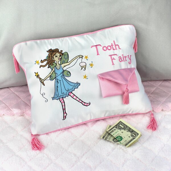Tooth Pillow Personalized Tooth Pillow Tooth Fairy Pillow Girls Personalized Gifts Dragon Tooth Fairy Pillow Girl Embroidered Gifts