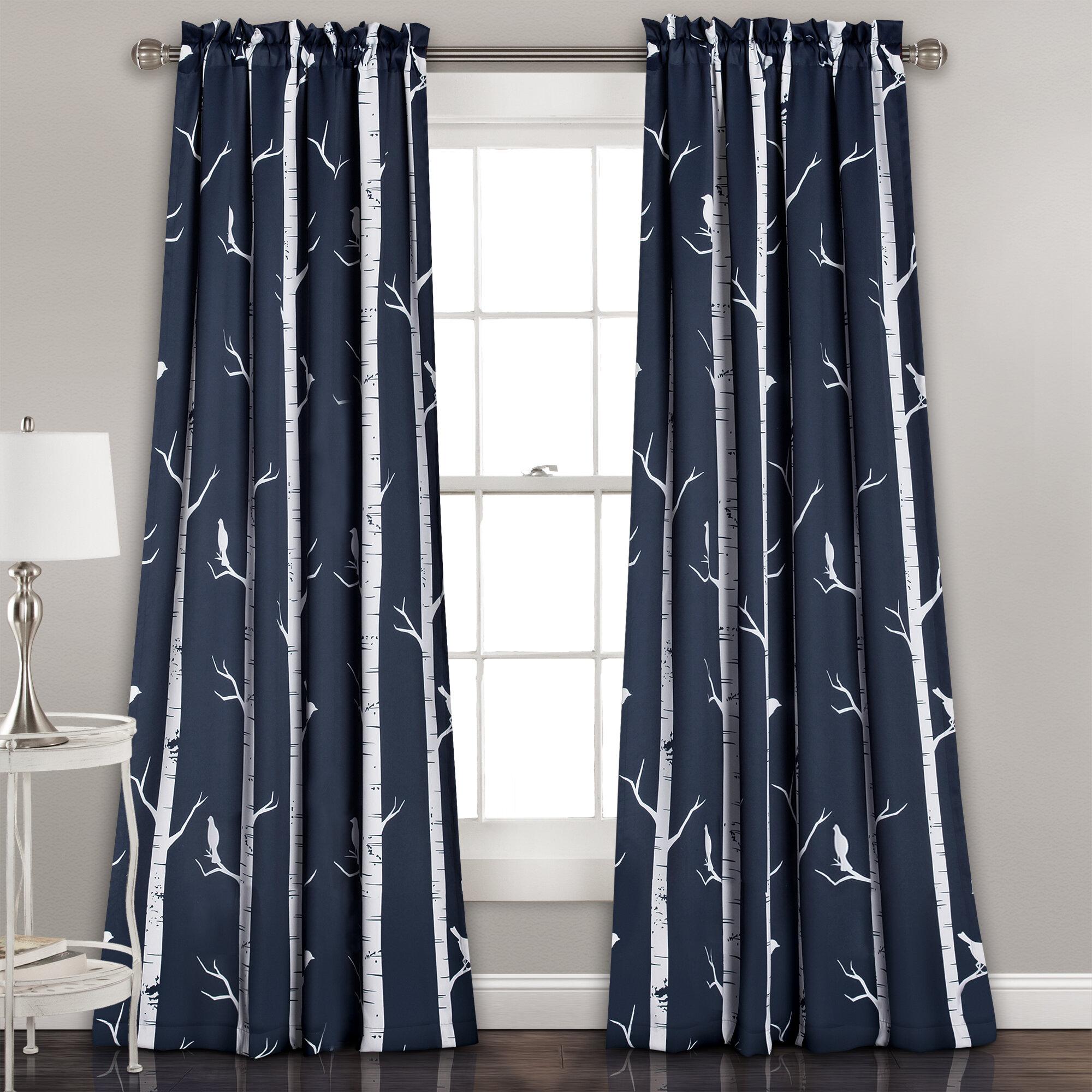 Wrought Studio Mendon Floral Room Darkening Thermal Rod Pocket Curtain Panels Reviews Wayfair