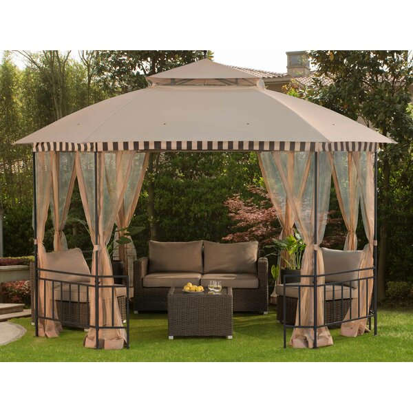 Sunjoy Meijer 10 Ft W X 12 Ft D Steel Permanent Gazebo