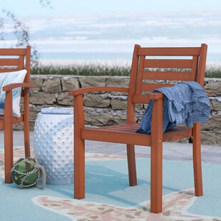 Beachcrest Home Sanford Stacking Dining Arm Chair