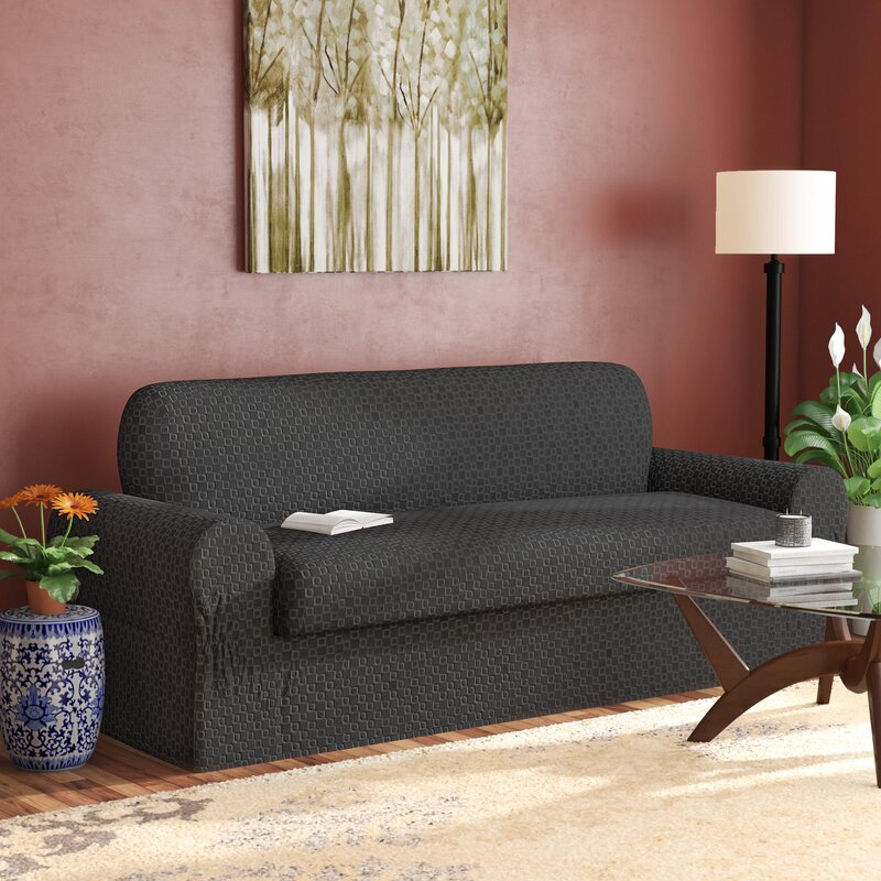 Darby Home Co Box Cushion Sofa Slipcover & Reviews | Wayfair