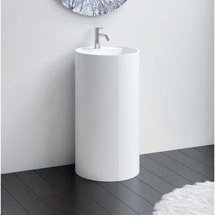 Read Reviews Polymarble 18 Pedestal Bathroom Sink By Badeloft