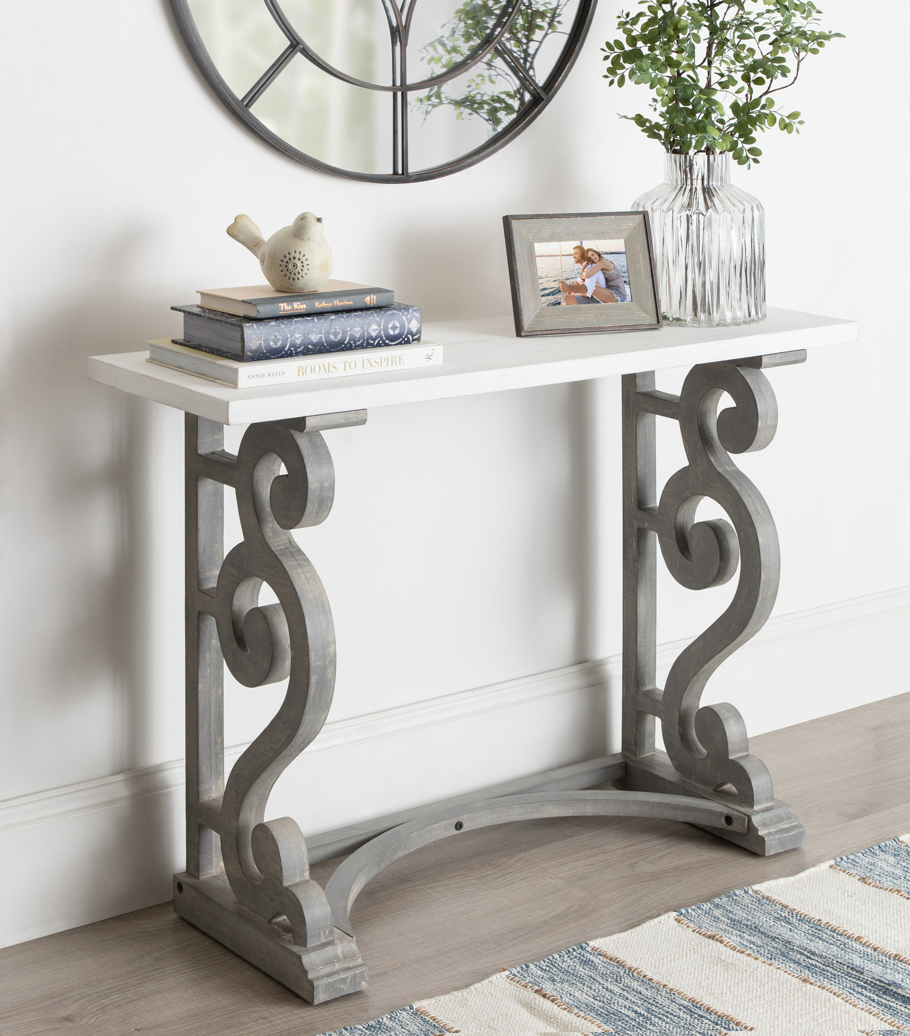 Ophelia Co Lauer 42 Solid Wood Console Table Reviews Wayfair
