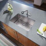 """Stainless Steel 26"""" L x 18"""" W Undermount Kitchen Sink"""