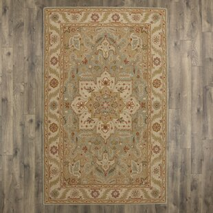Trinningham Hand-Tufted Wool Ivory Area Rug by Charlton Home