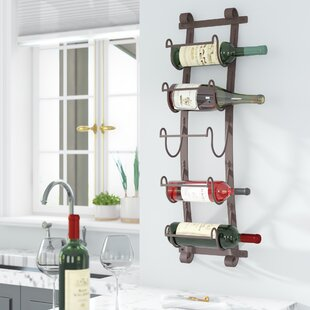 Wall wine racks Modern Bondville Bottle Wall Mounted Wine Rack Wayfair Wine Racks For The Wall Wayfair