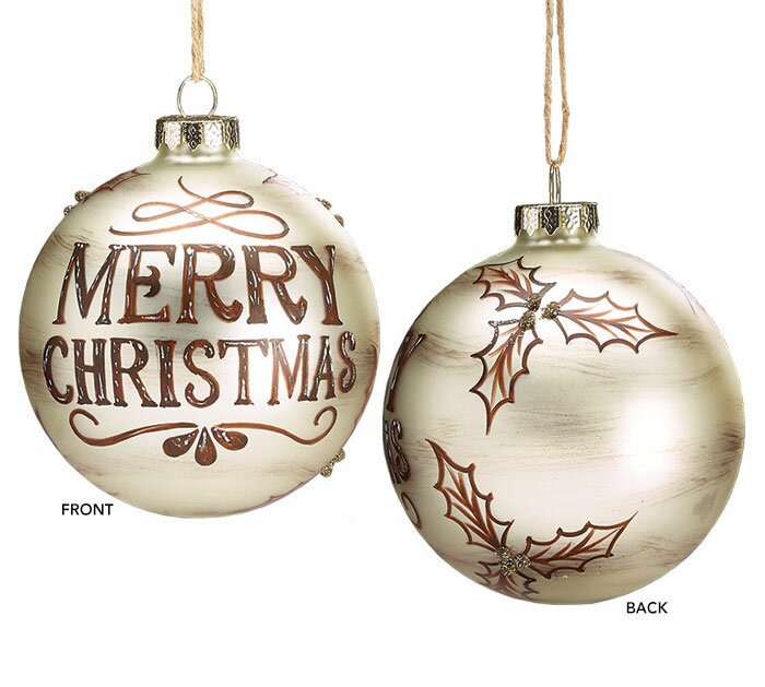 Glass Merry Christmas Ball Ornament Set - The Holiday Aisle Glass Merry Christmas Ball Ornament Set & Reviews