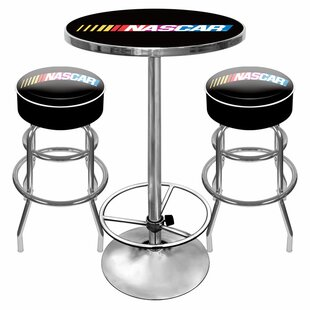 NASCAR Game Room 3 Piece Pub Table Set Trademark Global