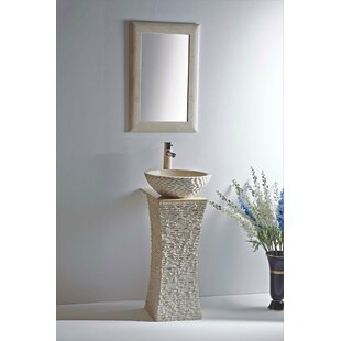 pedestal outdoor stone sinks garden natural sink