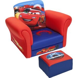 Cars Kids Club Chair and Ottoman by Delta Children