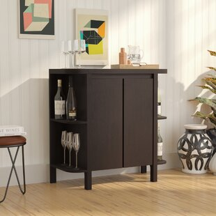 Latitude Run Spraggins Bar Cabinet with Wine Storage