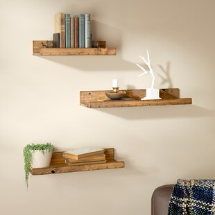Dunlap Rustic 3 Piece Floating Shelf Set