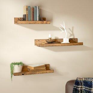 reclaimed wood mug rack urban rustic. Dunlap Rustic 3 Piece Floating Shelf Set Reclaimed Wood Mug Rack Urban