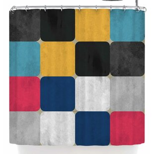 East Urban Home Rosa Picnic Square Shower Curtain
