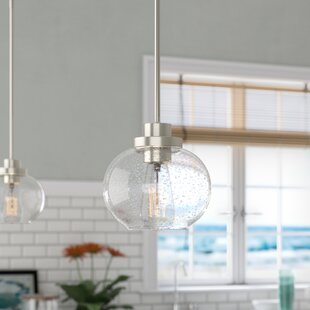 Wiesner 1-Light Globe Pendant by Breakwater Bay