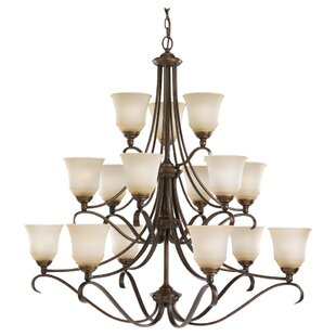 Darby Home Co Culley 15-Light Shaded Chandelier