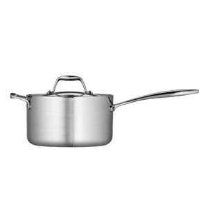 Gourmet Tri-Ply Clad 4-qt. Saucepan with Lid
