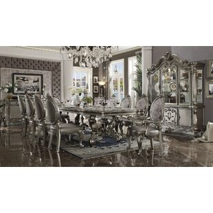Jackie 11 Pieces Extendable Dining Set House of Hampton