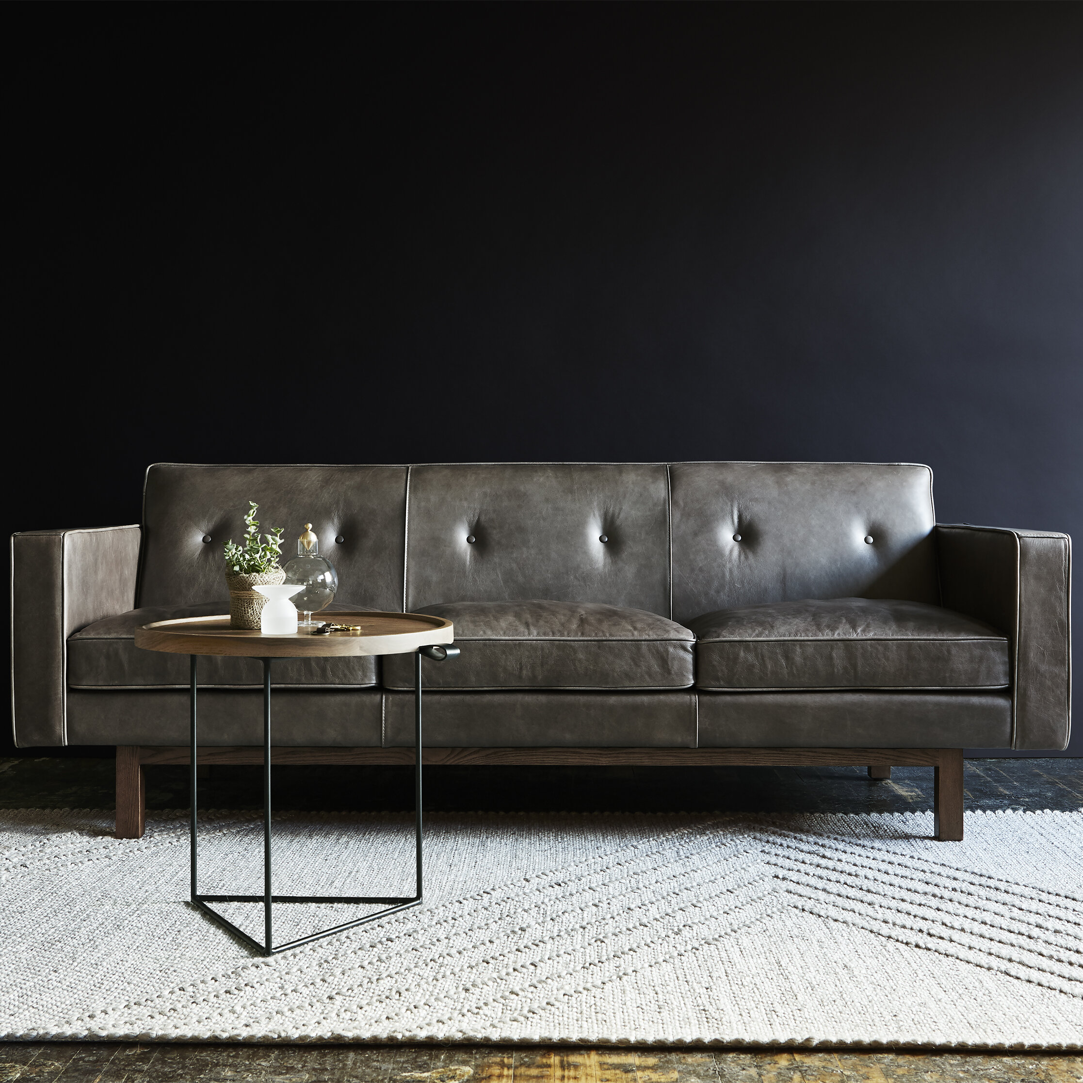 Gus modern embassy leather sofa reviews wayfair ca