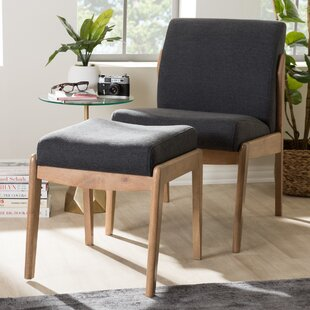 Gustavo Lounge Chair Ottoman by Langley Street