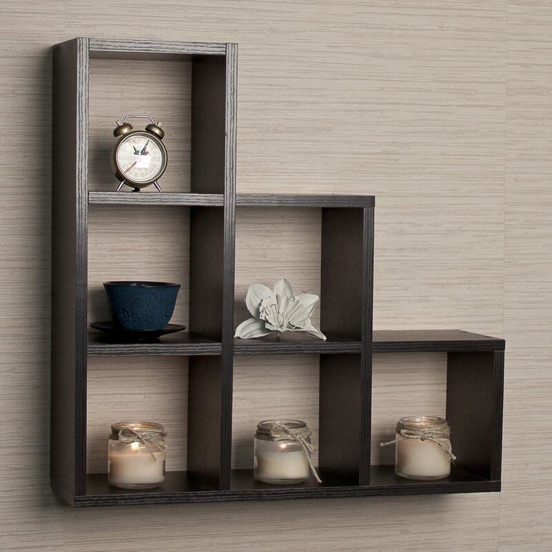 Bermondsey Stepped 6 Cubby Decorative Wall Shelf