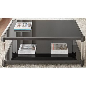 Alli Tinted Coffee Table with Casters by Everly Quinn
