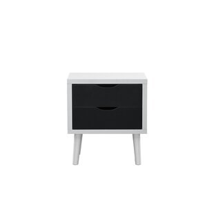 Roberta Modern 2 Drawer Nightstand by Turn on the Brights
