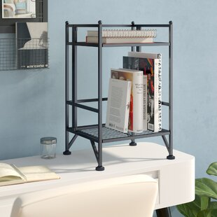 Hockman 2 Tier Folding Etagere Bookcase by Zipcode Design