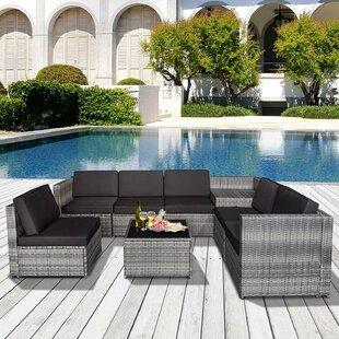 Alresford 6 Seater Rattan Corner Sofa Set By Sol 72 Outdoor