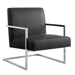 Keenan Leather PU Square Armchair by Nicole Miller